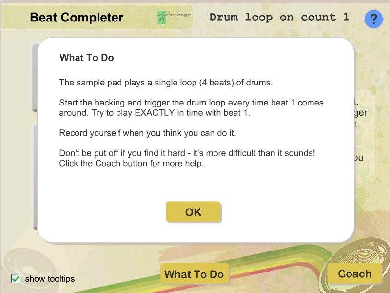 Drum loop on count 1