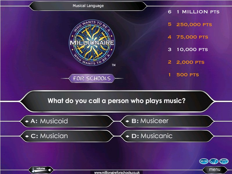 Beginner Baritone Horn Euphonium Quiz - Who Wants to Be A Millionaire