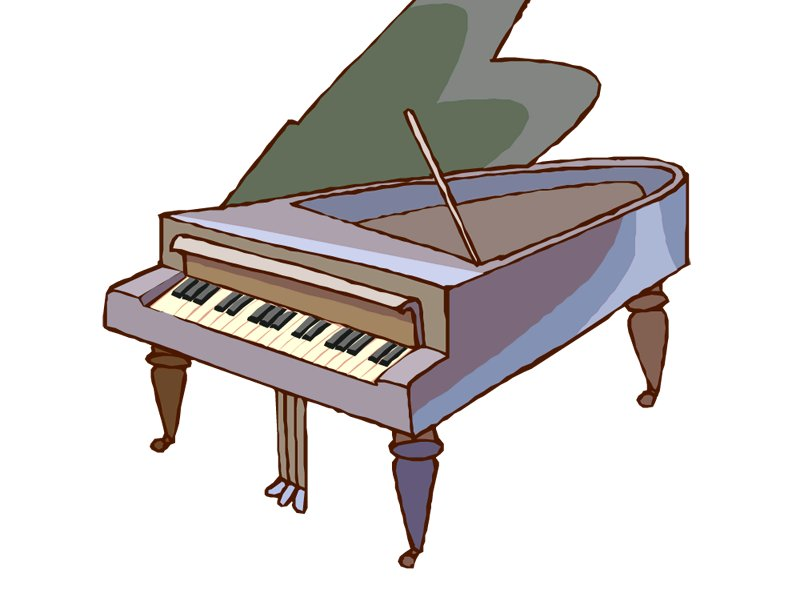 Cartoon grand piano